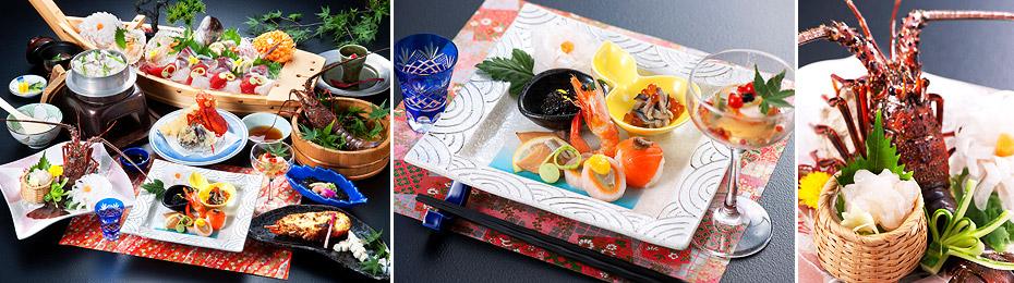 Dishes served at the Resort Hills Toyohama Sora no Kaze