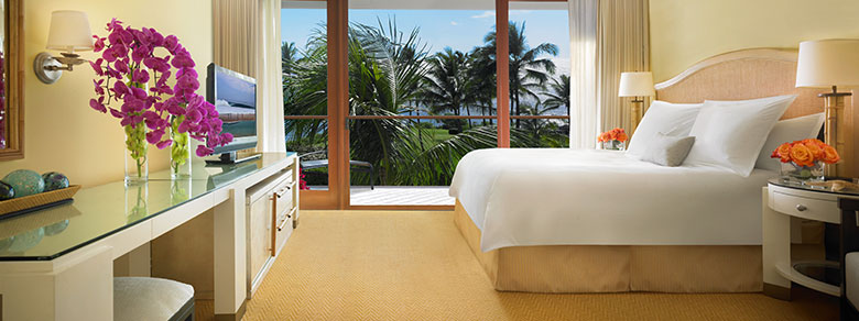 Garden view room at the Kapalua Bay Resort