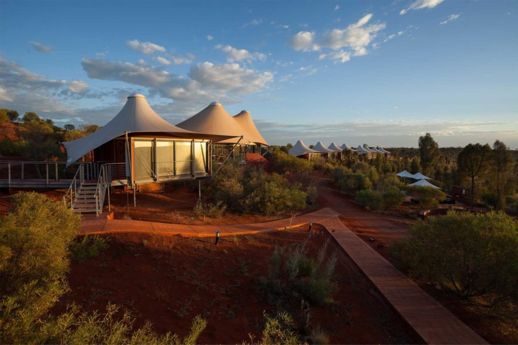 A luxury tent in the Australian Outback