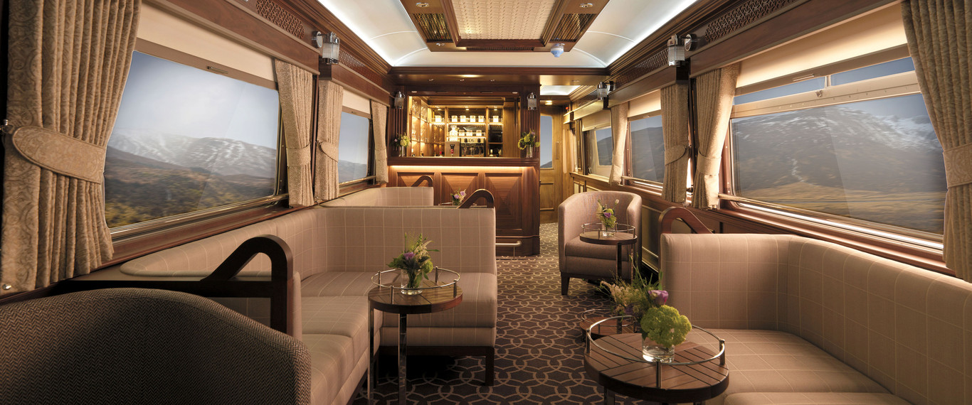 View of observation car in the Belmond Grand Hibernian