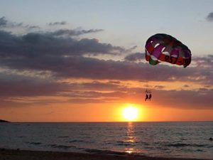 parasailing at the tuscany bay in Caicos