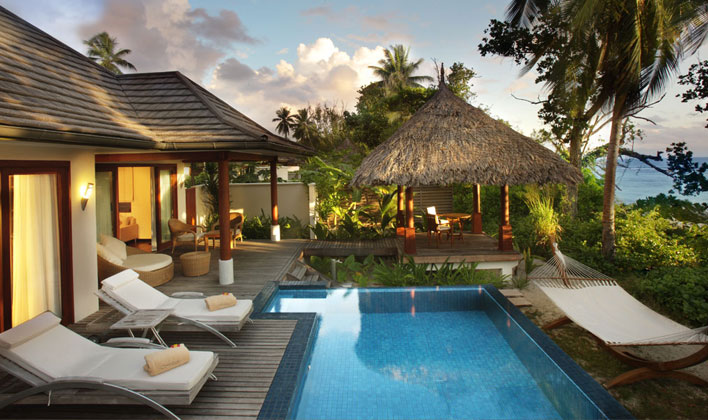 View of villa at Hilton Seychelles Labriz Resort & Spa