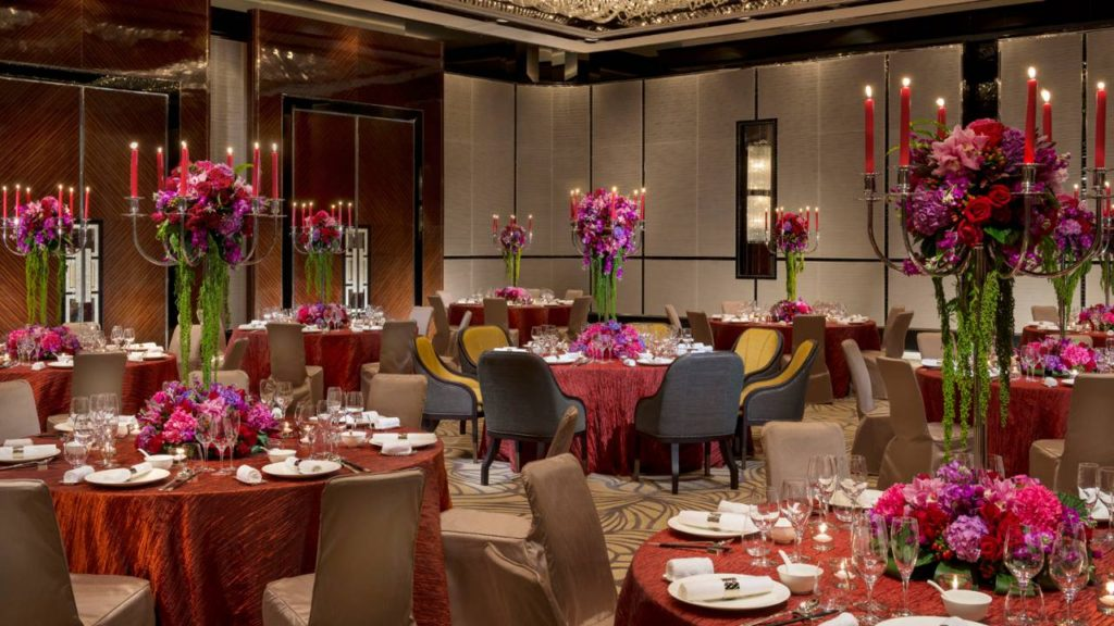 one of the dining halls at the four seasons hotel in Shanghai