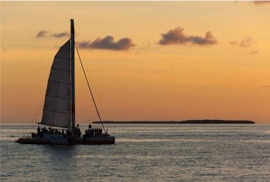 Parasail in Jamaica during sunset