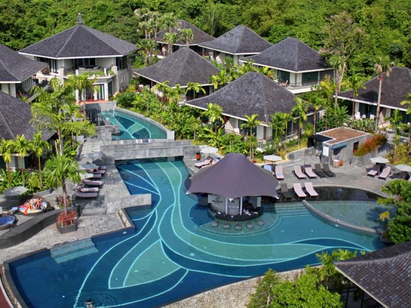 pools at the Mandarava Resort & Spa in Phuket, Thailand
