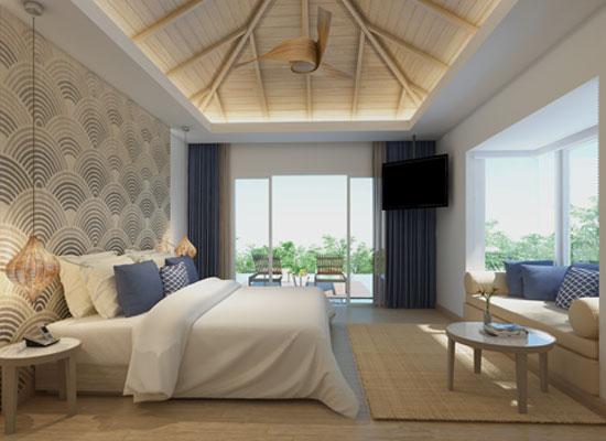 rooms at the Mandarava Resort & Spa in Phuket, Thailand