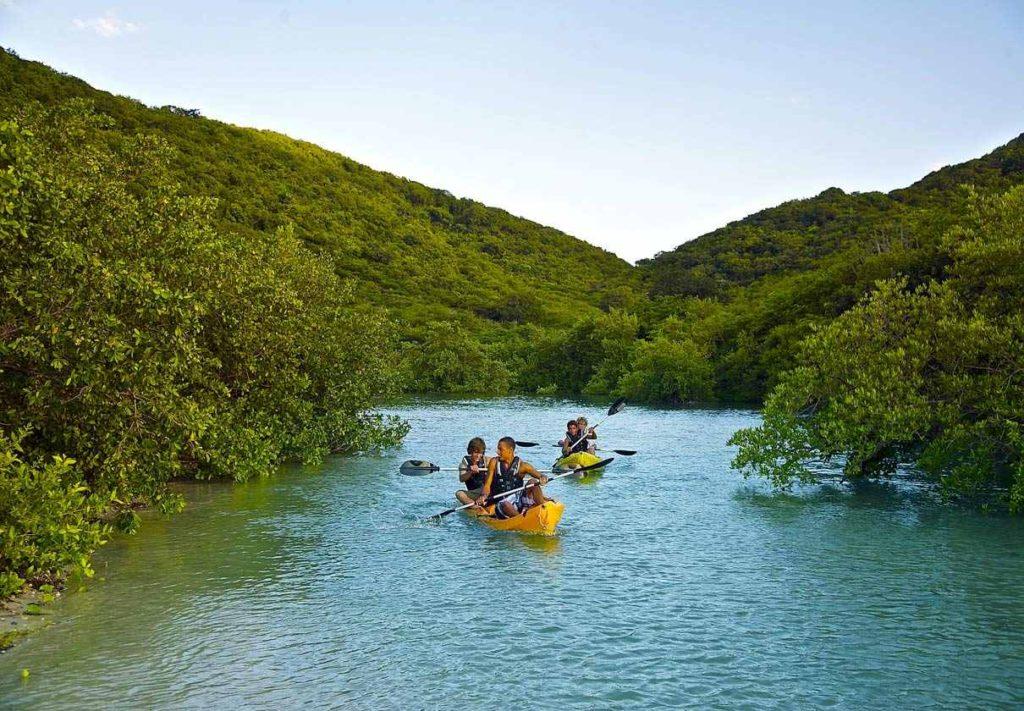 kayaking in the Caribbean Sea in Antigua