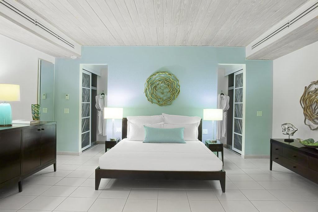 an ocean suite at the carlisle bay resort