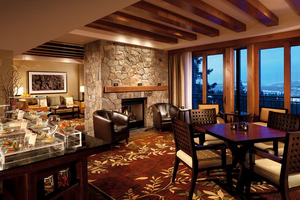 View of the lodge at the Ritz-Carlton, Lake Tahoe