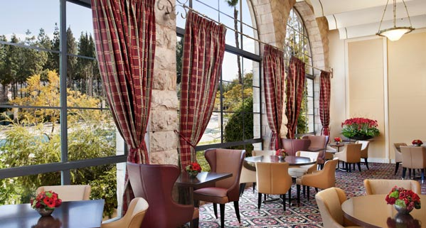 One of hte restaurants available at the King David hotel