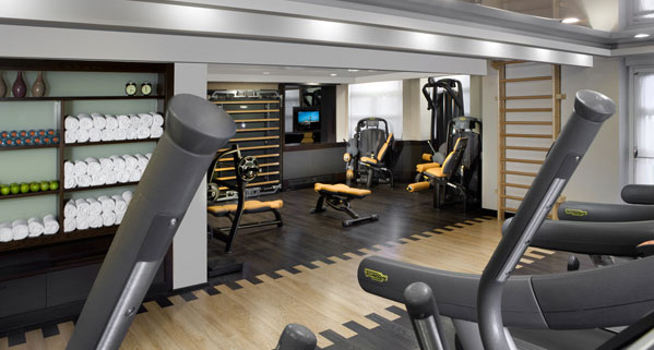 gym facility at the king david hotel in Jerusalem