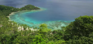 An overhead view of Laucala Island Resort