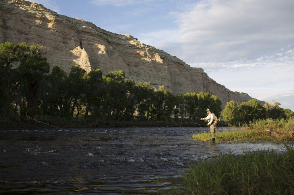 Fly fishing at the Brush Creek Ranch