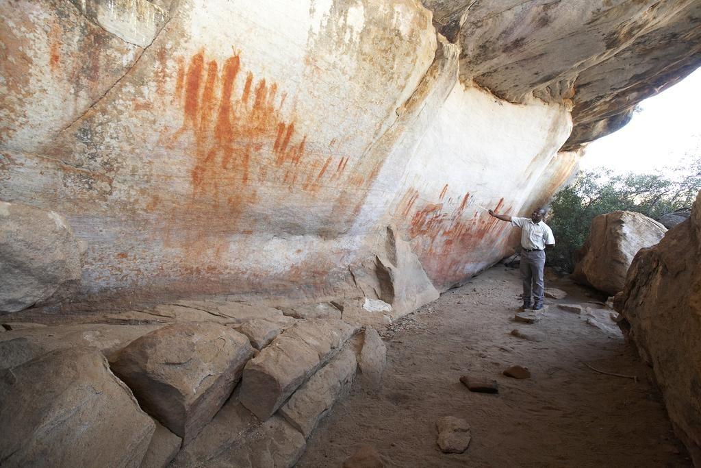 Red rock art at the Bushman's Kloof Wilderness Reserve & Wellness Resort