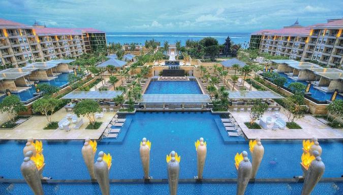 View of Mulia Resort and pool