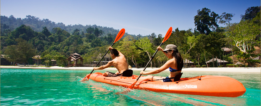 Kayaking in the ocean