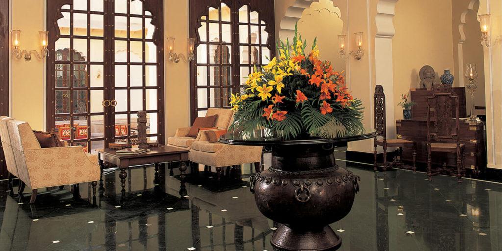Lobby at Oberoi Vanyavilas