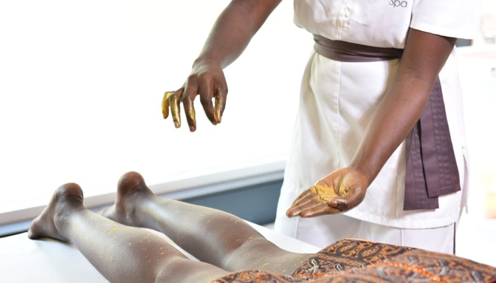 person getting a spa treatment at EPIC SANA Luanda hotel