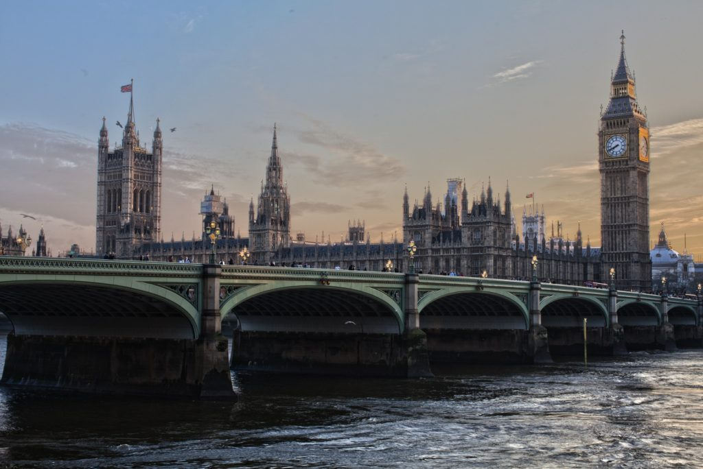 Big Ben and the Houses of Parliament in England