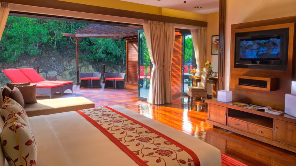 Rainforest Villa interior at the Gayana Marine Resort