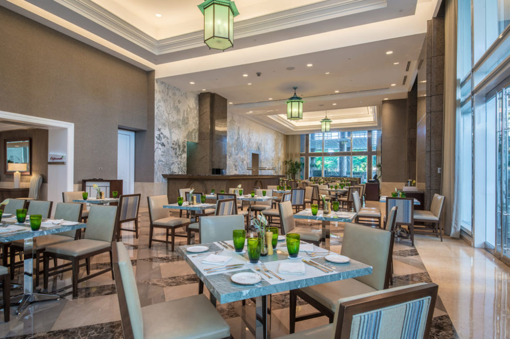 Tapenade restaurant dining room at the Discovery Primea
