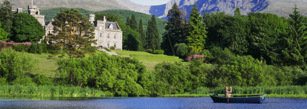 fishing on the loch outside of the Inverlochy Castle Hotel