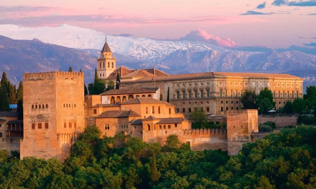 View of the Alhambra Palace