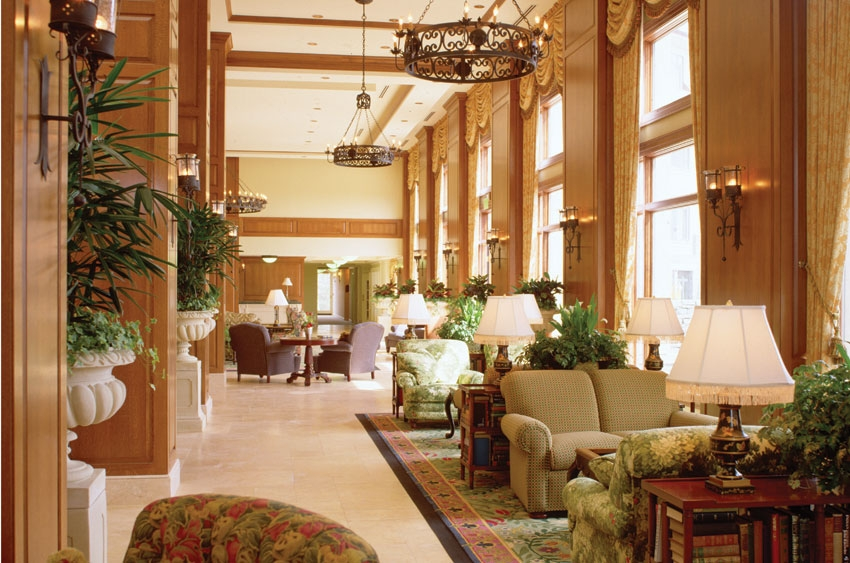 lobby of the Inn at Biltmore Estate