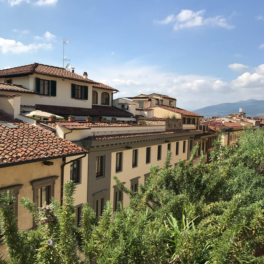 View from the terrace of the Hotel Milu